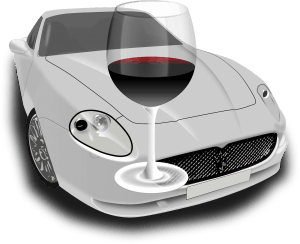 רכב יוקרה כוס אלכוהול